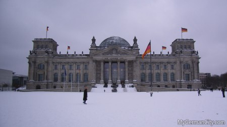 Berlin Reichstag in Winter, 2010