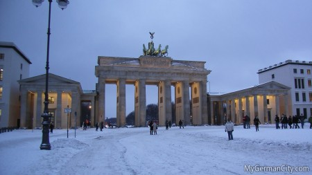 Brandenburg Gate in Winter, 2010