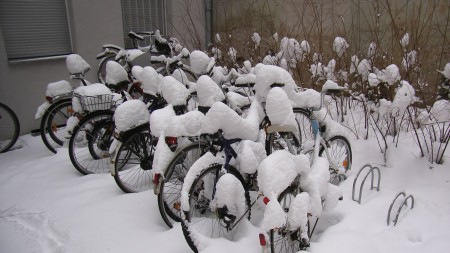 Bikes in German Winter, Berlin 2010